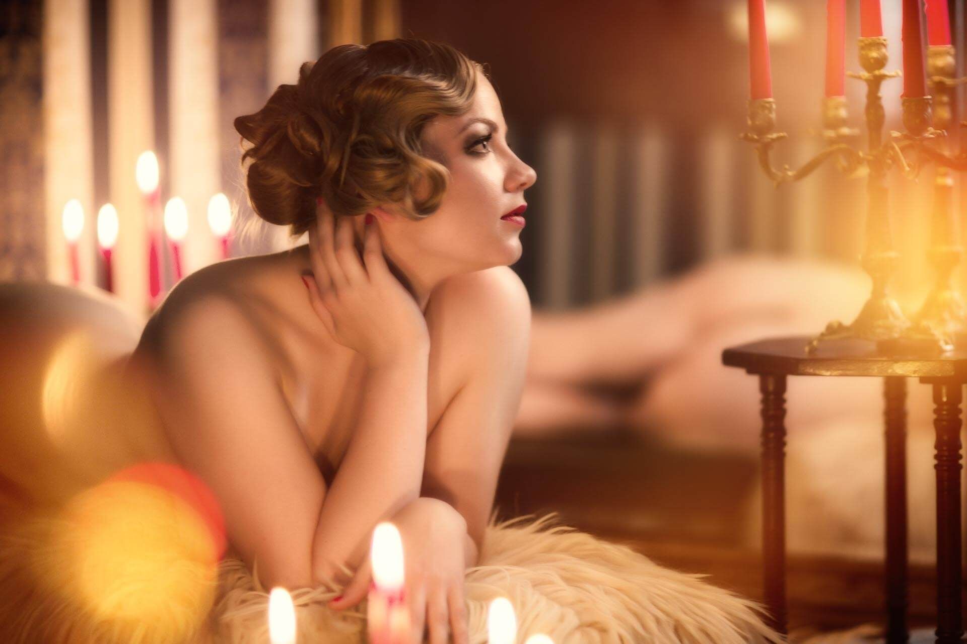 Fotostudio-Dresden-Fotograf-20iger Jahre-Kerzen-Candles-Akt
