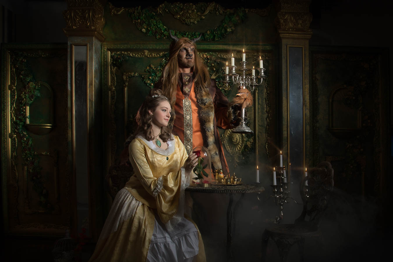 Fotostudio-Dresden-Beauty-Beast-Styling-Make up-Kerzen-Kleid