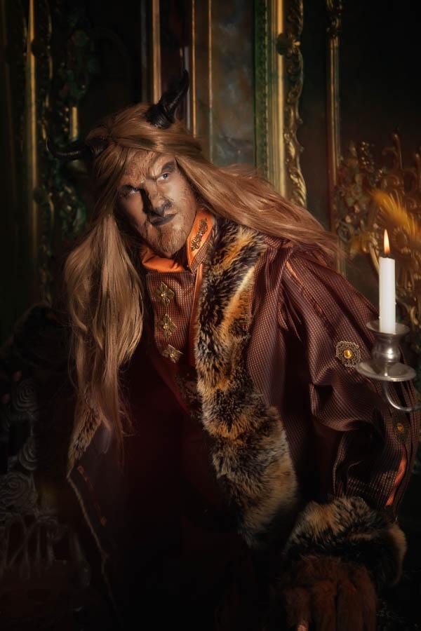 Fotostudio-Dresden-Beast-Beauty-Perücke-Styling-Make up-Kerze