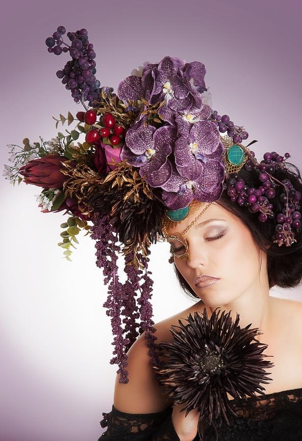 Portrait- Fotograf-Fotostudio-Dresden- Kunst-Blumen-Fantasy-Kopfschmuck-Headpiece