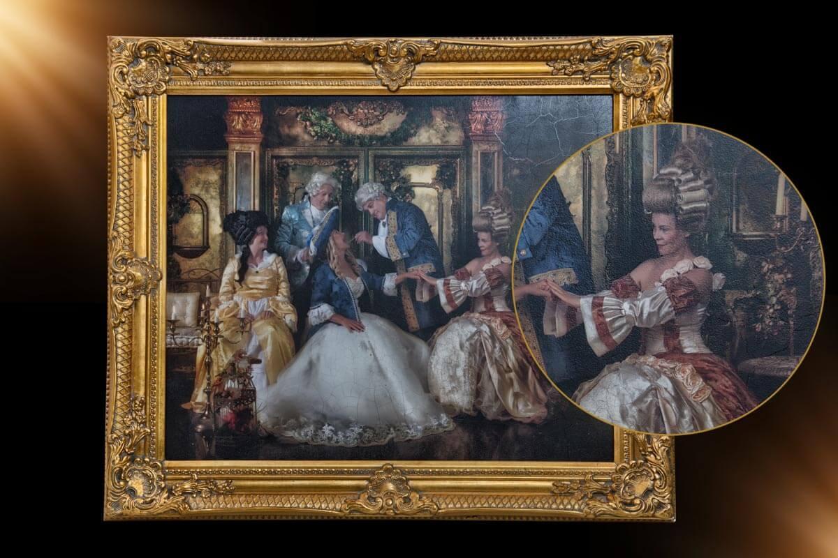 Gemälde vom Foto Barock Gruppe