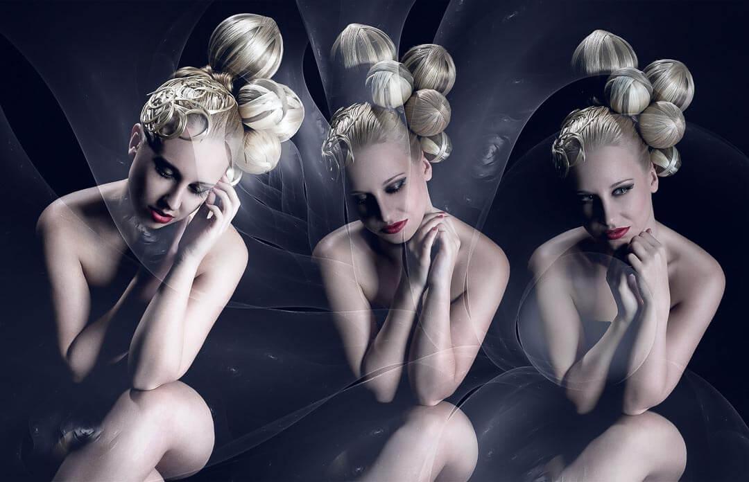 Fotograf-Fotostudio-Dresden-Haar-Design-Fantasie-Geometrie-Formen-Kugel-Styling-Make up-Ausdruck