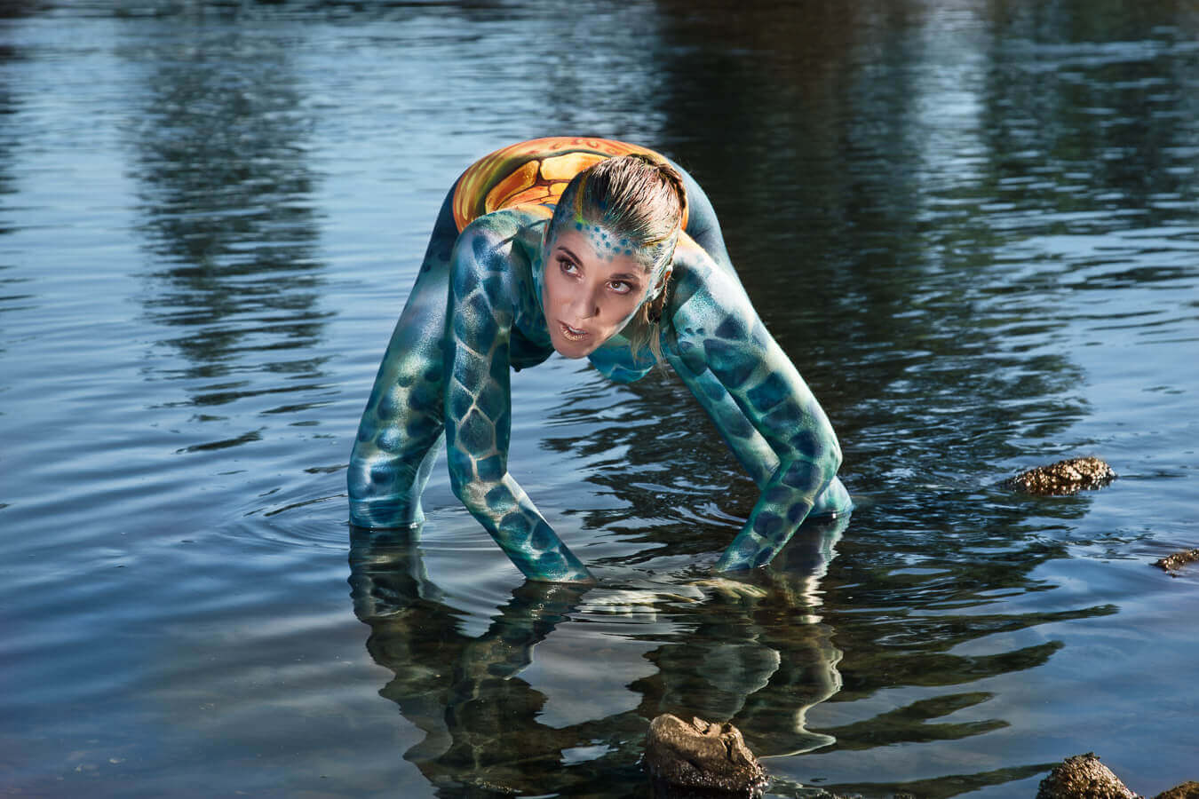 Fotograf-Fotostudio-Dresden-Painting-Body-Wasser-Kunst-Farbe-Colourful-Styling-Make up