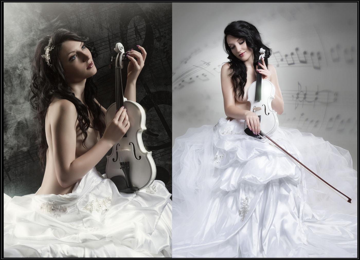 Fotoshooting Violine