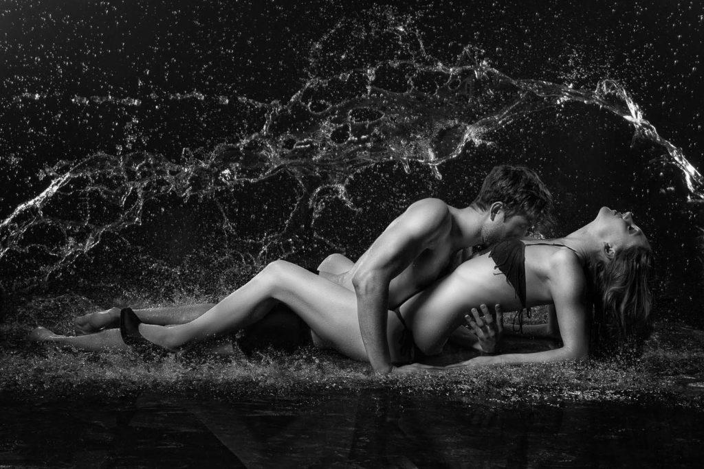 Fotoshooting -Paare im Studio