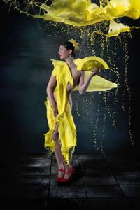 Gelbe Farbe auf Modell