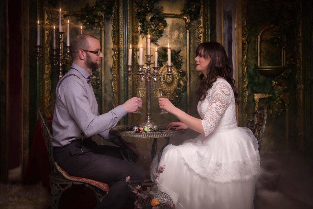 Hochzeitsfotos im Studio