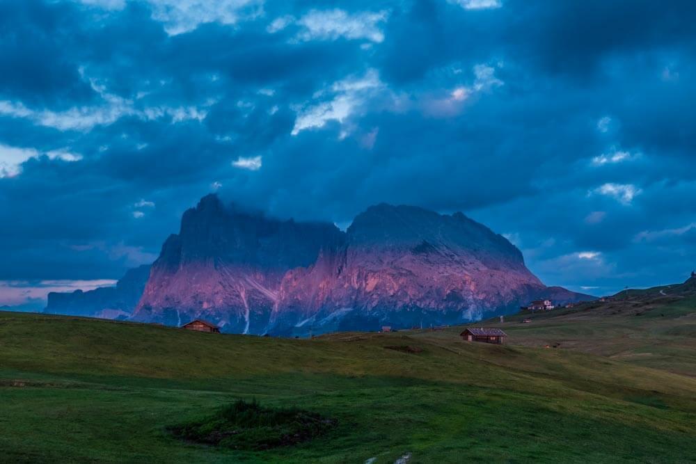 Fotograf Seiser Alm Abendlicht