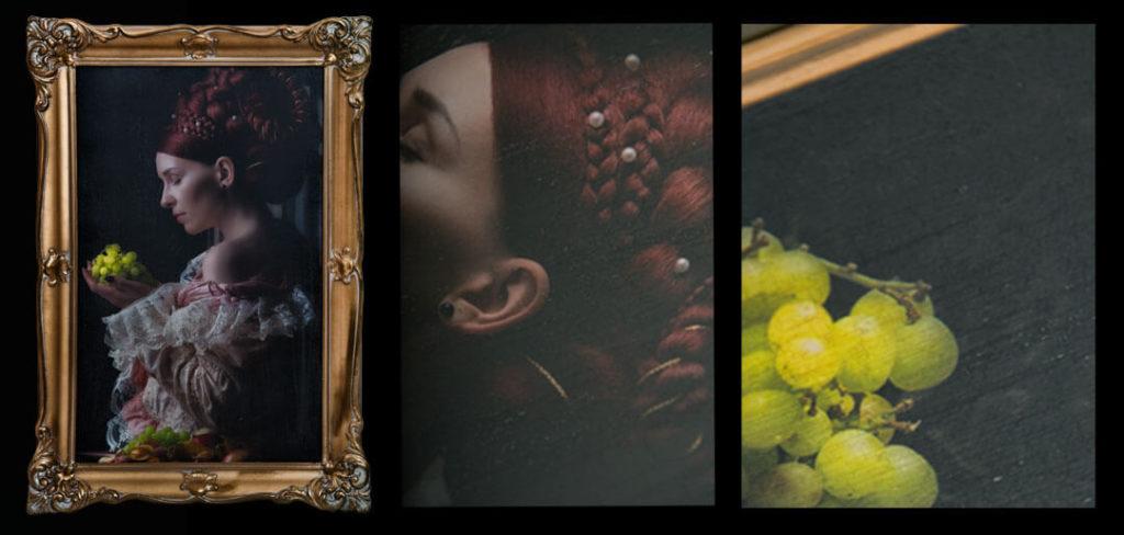 Fotograf und Gemälde