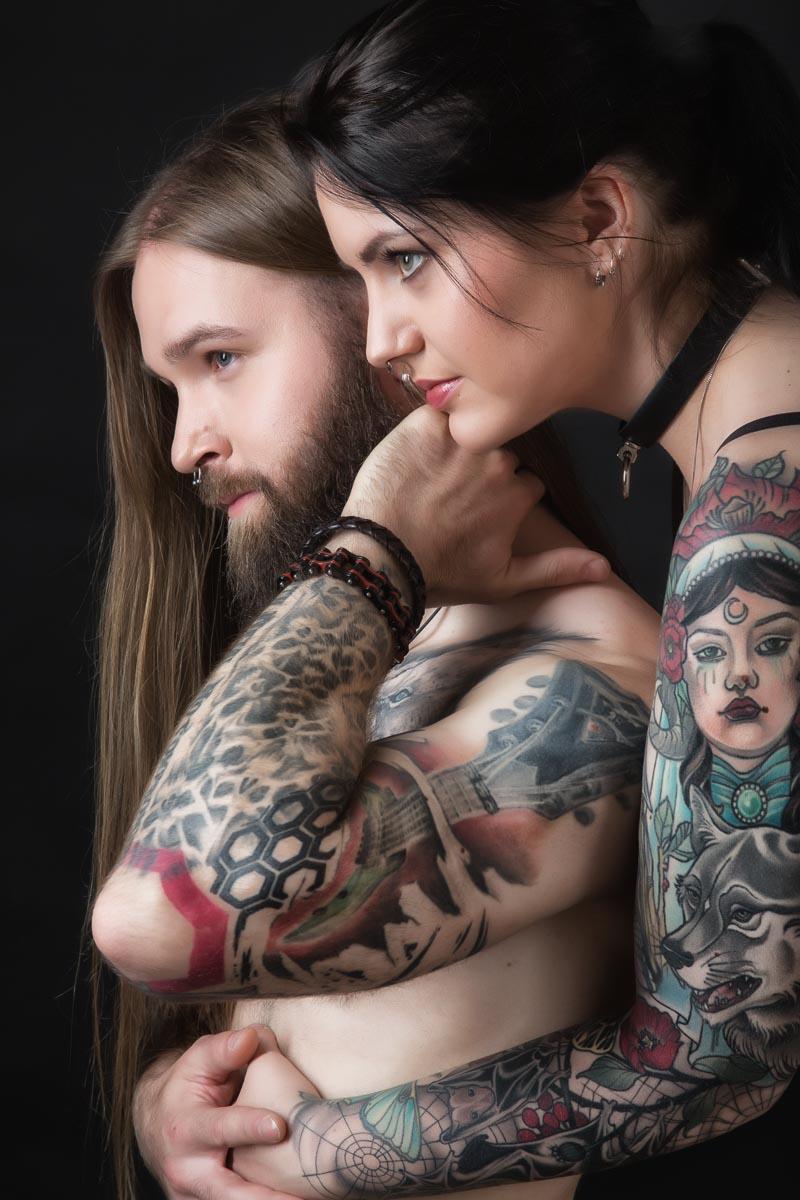 Fotoshooting Paar im Studio